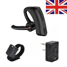Wireless Bluetooth Walkie Talkie Headset Earpiece Microphone PTT Two Way Radio