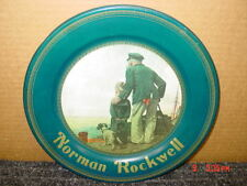 Old Souvenir metal or tin Plate Norman Rockwell Looking Out To Sea,Destiny Art
