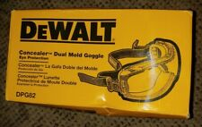 New listing Dewalt Safety Goggles Eye Protective Over Glasses Concealer Clear Anti-Fog - New