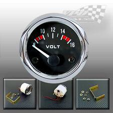 """Volt gauge dial face 8-16v  52mm / 2""""  dash panel car boat van"""