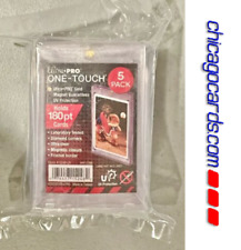 5x Ultra Pro One Touch 180pt Super Thick Magnetic Trading Card Holder PVC Free