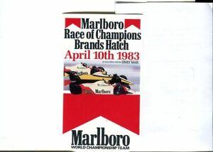 Race of Champions 1983 Marlboro original sticker autocollant adhesivo unused
