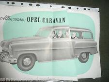 20490 OPEL CarAVan Falt-Prospekt Haifischmaul 50er Jahre