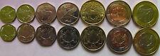 Botswana 2013 Set 7 coins (5+10+25+50 thebe +1+2+5 pula) UNC Two bimetal