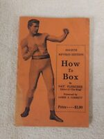 HOW TO BOX 1939 NAT FLEISCHER Antique GUIDE BOXING fight PHOTOS styles
