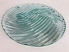 Crystal Blue Decorative Wave Plate