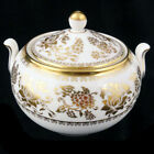 WEDGWOOD GOLD DAMASK Covered Sugar Bowl NEW NEVER USED made in England