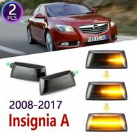 2x Dynamic LED Car Side Marker Lights Repeater Signal Lights For Opel Insignia A