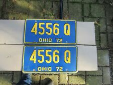 Vintage 1972 Ohio License Plates pair