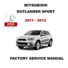 MITSUBISHI 2011 2012 OUTLANDER SPORT OEM SERVICE REPAIR MANUAL + WIRING DIAGRAM