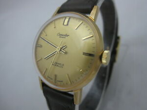 NOS NEW VINTAGE SWISS MADE ST STEEL GOLD PLATED CARPENTIER WOMENS WATCH 1960'S
