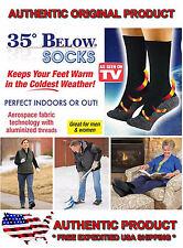 35 Below Socks 2 pair Black Size Small Medium As Seen on TV FREE SHIP USA SELLER