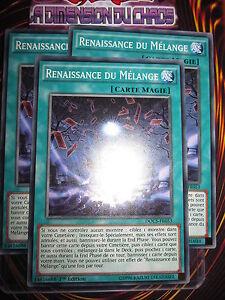 YU-GI-OH! COM LOT RENAISSANCE DU MELANGE X3 (PLAYSET) DOCS-FR053 MINT FR NEUF