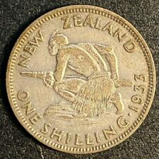 1933 New Zealand One Shilling  MP192