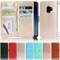 Deluxe 9 Card Wallet Leather Flip Case Cover For Samsung S20 S10 S9 A51 A50 A41