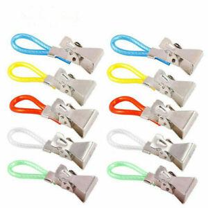10 Pcs Tea Towel Clips Hand Clip Hooks Hanging Hangers Loops cloth Kitchen Cafe