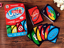 New Waterproof UNO H2O Game Playing Card With Metal Box For Family Friends Party
