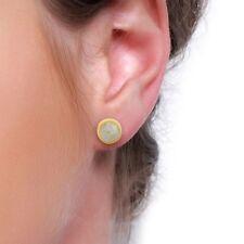 Rainbow Moonstone 925 Sterling Silver Stud Earrings Gemstone Jewelry