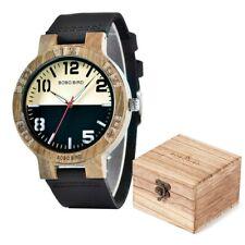 BOBO BIRD, relojes informales de madera para hombres, reloj de pulsera de cuarzo