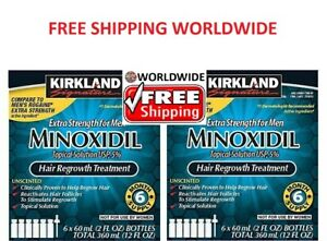 Kirkland Minoxidil5% Extra Stark Herren 12 Monatsvorrat Haar Nachwachsen Lösung