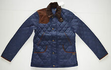 NWT Women's Polo Ralph Lauren Equestrian Quilted Jacket, Navy Blue, M, Medium