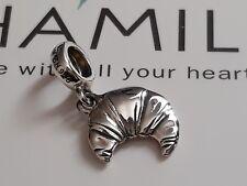 Genuine, Rare, CHAMILIA 925 Silver  BREAKFAST CROISSANT Charm Bead