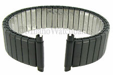 16-21mm Speidel Twist-O-Flex Black PVD Stainless Steel Mens Watch Band 1521/22