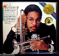 WYNTON MARSALIS-TRUMPET CONCERTOS-Fully Sealed Masterworks Album-CBS #IM 37846