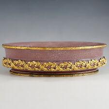 Antique French Sevres Porcelain Paul Milet Jardiniere Ornate Gilt Bronze Ormolu