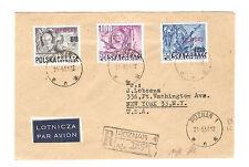 Polen Briefmarken Brief von 1951 Groszy Aufdruck Mi 617, 618, 619 T.12 Posen