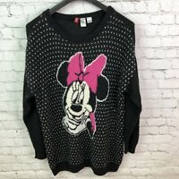 H&M Disney Minnie Mouse Alpaca Blend Sweater Women's Size Medium Oversized Black