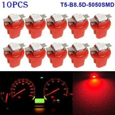 10PCS LED T5 B8.5D 5050 1SMD Dashboard Dash Gauge Instrument Interior Light Bulb