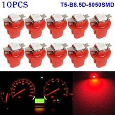 10PCS LED T5 B8.5D 5050 1SMD Dashboard Dash Gauge Instrument Interior Light Bulb