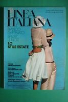 Línea Italiana Junio 48/1974 Raro Estilo Inmuebles Fashion Magazine Moda Italia