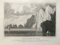 1840 Antique Print; Scratchell's Bay, Isle of Wight by G. Brannon