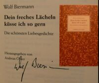 Wolf Biermann signiert Buch Original Unterschrift Signatur Autogramm