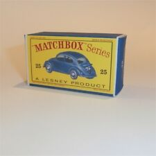 Matchbox Lesney 25 b Volkswagen Vw 1200 Sedan empty Repro D style Box