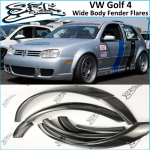 VW Golf 4 Wide Body Kit Wheel Arches Golf MK4 Fender Flares Set 8pcs Fit GTI