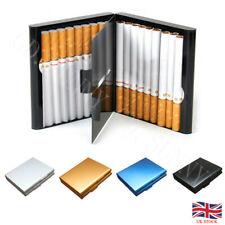 Aluminum Alloy 20 Cigarettes Storage Case Pocket Box Tobacco Container Holder UK