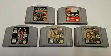 5 Wrestling LOT War Zone Mayhem Mercy WCW Nintendo 64 N64 Video Game Cartridge