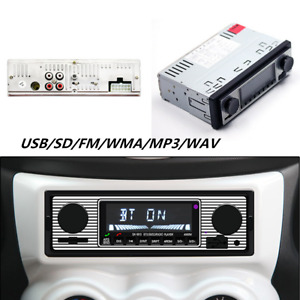 Car Stero FM retro radio car 12V Player Bluetooth Stereo MP3 USB AUX WAV FM
