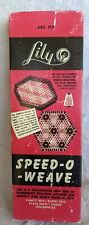 New ListingVtg Speed-O-Weave By Lily Mills Handicraft Weaving Art 717 With Booklet