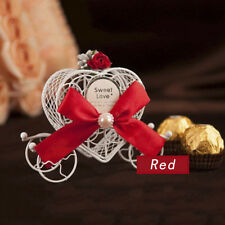 Wedding Candy Box Cinderella Carriage Sweet Sugar Container Iron Case Gift #uni