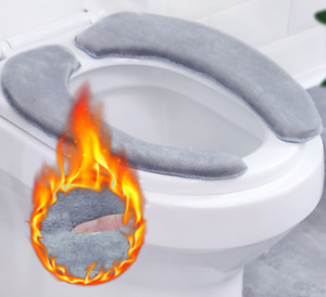 Bathroom Toilet Seat Washable Soft Warmer Mat Cover Pad Cushion Cover Warm