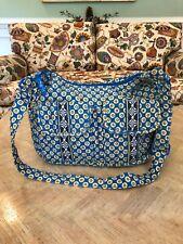 VERA BRADLEY RIVIERA BLUE PATTERN CARGO SLING CROSSBODY SHOULDER BAG OR PURSE