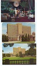4  Chrome Hilton Hotel Exterior Wicker Works Restaurant Denver Colorado Postcard