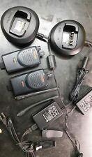 2 Motorola BPR40 MAG ONE vhf 8 Ch 4 Watt Two Way Radio & Chargers.  Likenew