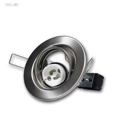 10x GU10 Telaio Di Montaggio Per Faretti Da Incasso cromo-opaco orientabile,