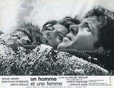 ANOUK AIMEE PIERRE BAROUH UN HOMME ET UNE FEMME 1966 VINTAGE LOBBY CARD #14