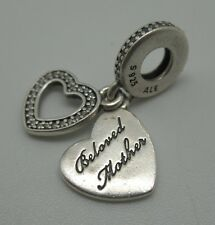 """Authentic Pandora Charm  """"Beloved Mother""""  791883CZ Silver  925 ALE"""